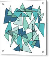 Shards Of Blue Acrylic Print