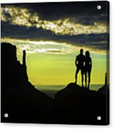 Sharing A Monument Valley Sunrise Acrylic Print