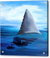Shark Fin Acrylic Print