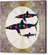 Shark Fish Dangerous Painted Cartoon Face Link For Download Option Below Personal N Commercial Uses Acrylic Print