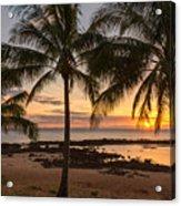 Sharks Cove Sunset 3 - Oahu Hawaii Acrylic Print