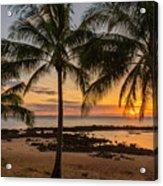 Sharks Cove Sunset 4 - Oahu Hawaii Acrylic Print