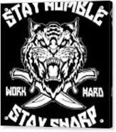 Sharp Tiger Acrylic Print