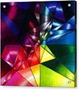 Shattered Rainbow Triangles Optical Art Acrylic Print