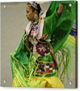 Pow Wow Shawl Dancer 3 Acrylic Print