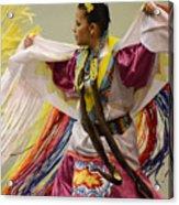 Pow Wow Shawl Dancer 4 Acrylic Print