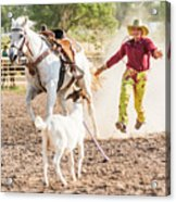 Shawnee Sagers Goat Roping Competition Acrylic Print