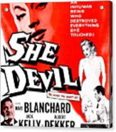 She Devil, Blonde Woman Featured Acrylic Print