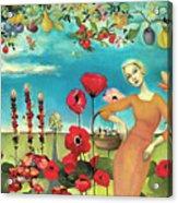 She Gathered Fruit Acrylic Print