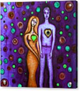 She Grieves The Hole In His Heart-purple Acrylic Print