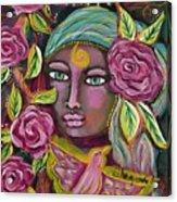 She Grows Beauty Acrylic Print
