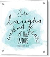 She Laughs Acrylic Print