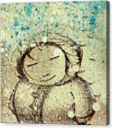 She Liked The Cold Acrylic Print by Konrad Geel