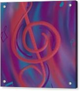 She Loves Me N G Clef Acrylic Print