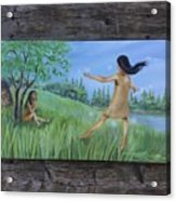 She Was A Happy Child Acrylic Print
