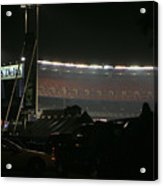 Shea Stadium Acrylic Print by Chuck Kuhn