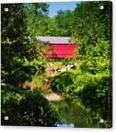 Sheards Mill Bridge - Nockamixon Pa Acrylic Print