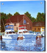 Sheboygan River Marina Acrylic Print
