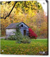 Shed In Autumn Acrylic Print