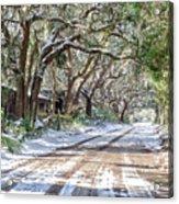 Sheep Farm - Snow Acrylic Print