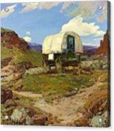 Sheep Wagon Acrylic Print