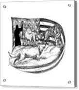 Sheepdog Protect Lamb From Wolf Tattoo Acrylic Print