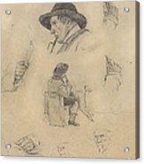 Sheet Of Sketches Acrylic Print