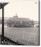 Sheffield United - Bramall Lane - Cricket Pavilion 1 - Bw - 1960s Acrylic Print