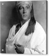 Sheik, Rudolph Valentino, 1921, Portrait Acrylic Print by Everett