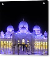 Sheikh Zayed Mosque Panorama View Acrylic Print