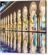 Sheikh Zayed Mosque Reflections Acrylic Print