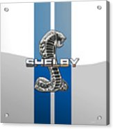 Shelby Cobra - 3d Badge Acrylic Print