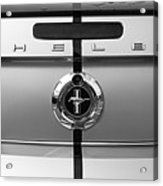 Shelby Ford Mustang Trunk Lid And Badge In Black And White Acrylic Print