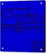 Shelby Gt Mustang Blueprint Acrylic Print