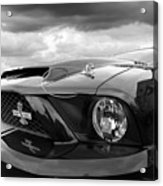 Shelby Super Snake Mustang Grille And Headlight Acrylic Print