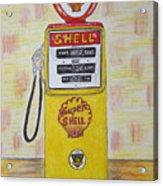 Shell Gas Pump Acrylic Print