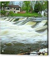 Shell Rock Iowa Dam 2 Acrylic Print