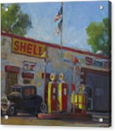 Shell Station Brown County Acrylic Print