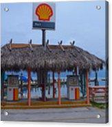 Shell Tiki Hut Station Acrylic Print