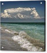 Shells, Surf And Summer Sky Acrylic Print
