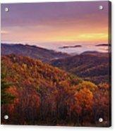 Shenandoah Autumn Sunrise Acrylic Print