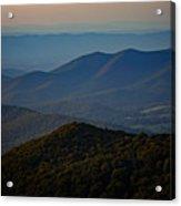 Shenandoah Valley At Sunset Acrylic Print