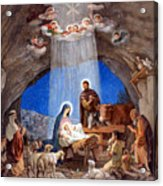Shepherds Field Nativity Painting Acrylic Print by Munir Alawi