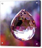 Sherbet Crystal Teardrop Acrylic Print