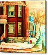 Sherbrooke In Winter Acrylic Print