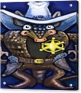Sheriff Dillo Acrylic Print