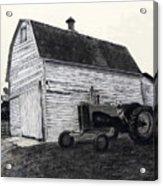 Sherry's Barn Acrylic Print by Bryan Baumeister