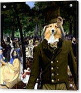 Shetland Sheepdog Art Canvas Print - Music In The Tuileries Gardens Acrylic Print