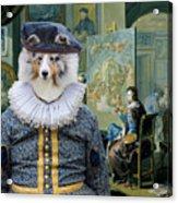 Shetland Sheepdog Art Canvas Print - The Painter And His Studio Acrylic Print