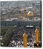 Shia Muslims Around The Husayn Mosque Acrylic Print by Everett